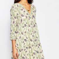 BA&SH Naouel Dress in Folk Print