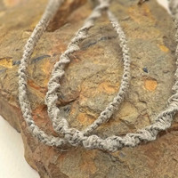 Hemp Spiral Necklace or Flat Necklace 18 inch Tie Shut