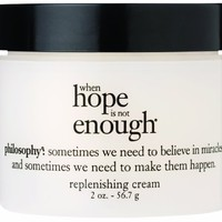 Philosophy When Hope is Not Enough Replenishing Cream, 2 Ounce