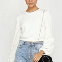 Pay Attention Sweater (White)