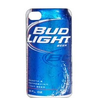 One-Piece iPhone 4 or 4s Orange Plastic Case Bud Light Can