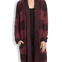 Lucky Brand Checked Boucle Sweater Womens - Red/Black