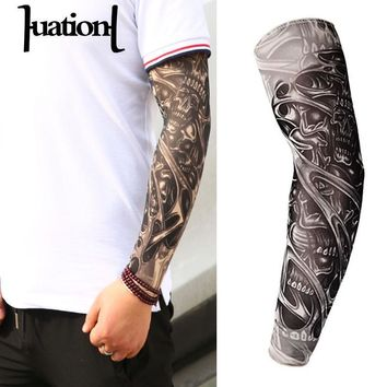 Huation New Fashion  Tattoo Arm Sleeves Warmer Unisex UV Protection Outdoor Temporary Fake Slip On Tattoo Arm Sleeve Warmer s