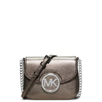 Fulton Small Metallic Leather Crossbody | Michael Kors