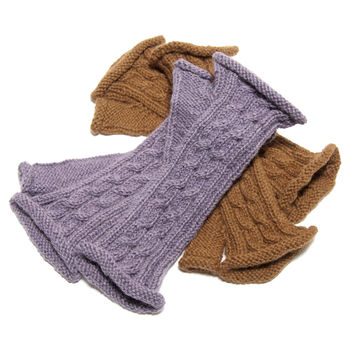 Alpaca Knit Fingerless Gloves