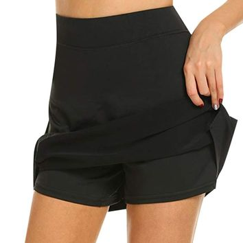 Anti-Chafing Active Performance Tennis Golf Workout Sports Skirt