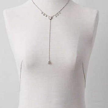 AEO Quartz Stones Y-Necklace , Silver