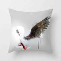 Pi C Throw Pillow by Deniz Erçelebi