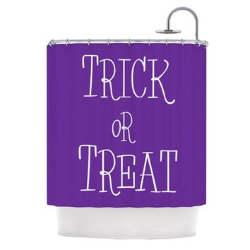 "KESS Original ""Trick or Treat - Purple"" Shower Curtain"