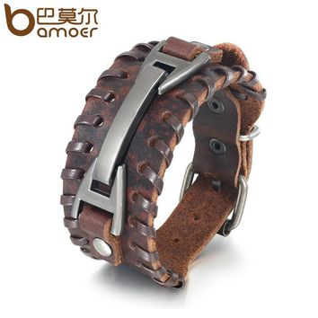 BAMOER Vintage Leather Bracelet