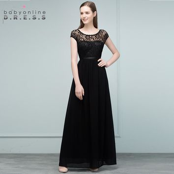 2018 Wedding Bridesmaid Chiffon Lace Long Bridesmaid Dresses Onle Shoulder Bride Formal Party Dress Prom Gowns Robe De Soiree