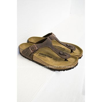 Gizeh Leather Birkenstocks | Brown