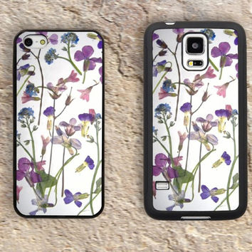 Pressed Flowers iPhone Case-iPhone 5/5S Case,iPhone 4/4S Case,iPhone 5c Cases,Iphone 6 case,iPhone 6 plus cases,Samsung Galaxy S3/S4/S5-112