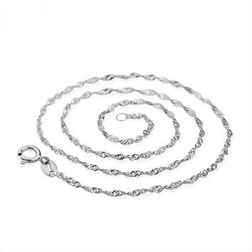 Shiny Gift Stylish New Arrival Jewelry Korean Accessory Chain Silver Necklace [10417743444]