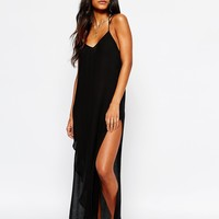 Free People Kotted Long Slip Dress