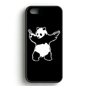 Banksy Graffiti Panda With Gun iPhone 4s iPhone 5s iPhone 5c iPhone SE iPhone 6|6s iPhone 6|6s Plus Case