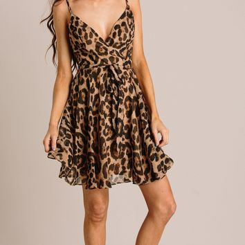 Joelle Leopard Dress