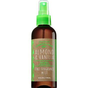 Bath & Body Works ALMOND & VANILLA Natural Almond Oil Fragrance Mist 6 oz