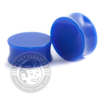 Blue Acrylic Plugs