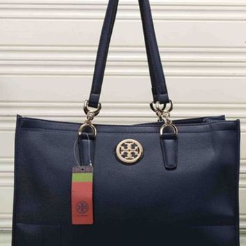 Day-First™ Tory Burch Women Leather Flower Print Shopping Tote Handbag Shoulder Bag