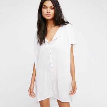 Chicloth Plunge V-Neck T-Shirt Dress