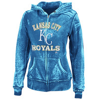 Kansas City Royals Women's Push the Limits Full-Zip Hooded Fleece by Majestic Athletic - MLB.com Shop