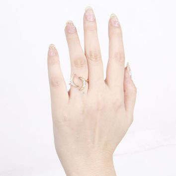 Jewelry Gift New Arrival Shiny Accessory Simple Design Stylish Diamonds Ring [4918840516]