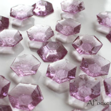 125 PURPLE Edible Sugar Jewels Purple Barley Sugar Bite Sized Hard Candy 6.5 oz Cake Decor Cupcake Jewels