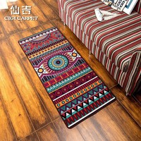Autumn Fall welcome door mat doormat CIGI Vintage Long Floor Mat Anti Skid Bedroom Carpet Desk Table Mat Welcome  Kitchen Bathroom Nylon Mat Colorful Rugs AT_76_7