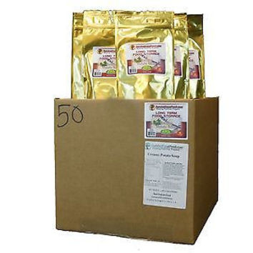 NEW Survival Cave Food 50 Pouch Case of Potato Soup-Freeze Dried Natural Meals
