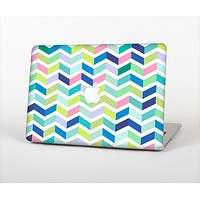 The Fun Colored Vector Segmented Chevron Pattern Skin Set for the Apple MacBook Air 13""