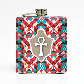 Egyptian Hieroglyphic Key Designer 6 Oz Liquor Stainless Steel Hip Flask Weddings Groomsmen Bridesmaids Gift Whiskey Flask