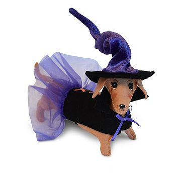 Annalee Dolls 5in 2018 Halloween Dog Witch Plush New with Tags