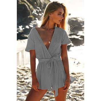 DeepV Twist Plain Rompers