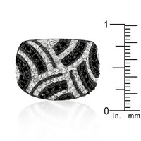 Black And White Cocktail Ring, size : 07