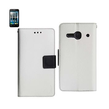 New Wallet Case In White For Alcatel One Touch Evolve 2 3-In-1
