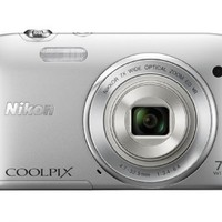 Nikon COOLPIX S3500 20.1 MP Digital Camera with 7x Zoom (Silver) (OLD MODEL)