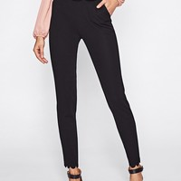 Scalloped Tailored Pants