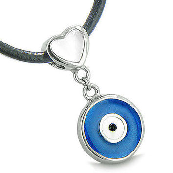 Amulet Evil Eye Reversible Double Lucky Hearts Charm Yin Yang Powers White Cat's