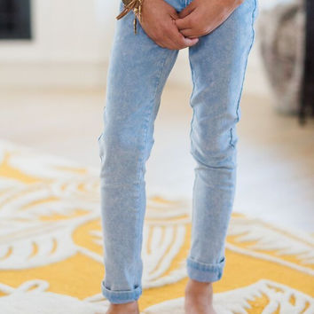 Girl's Stonewashed Jeans