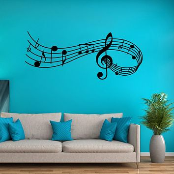 Wall Sticker Music Songs Sound Notes Melody Wall Decal Bedroom Office Decor Removable Music Sticker