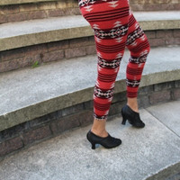 Raspberry Knit Leggings