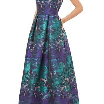 Carmen Marc Valvo Infusion Woven Ballgown | Nordstrom