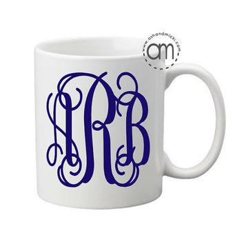 Monogram Mug, Personalized Wine Glass, Monogram Wedding GIft, Engagement Mug
