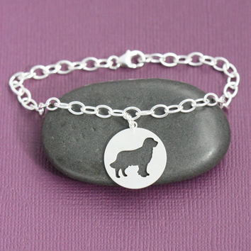 SALE - Personalized Dog Bracelet - Silver Dog Pendant - Dog Breed - Sterling Silver Charm - Personalized Pets - Dog Lover Gift - Pet Lover