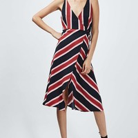 Stripe Wrap Slip Dress