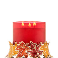 Colorful Autumn Leaves 3-Wick Candle Sleeve | Bath And Body Works