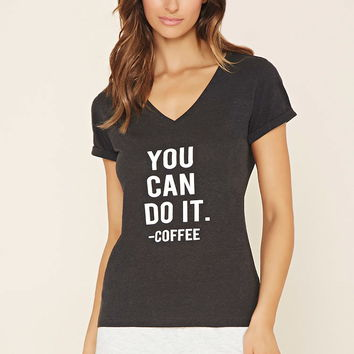 You Can Do It Graphic PJ Top