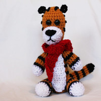Crochet Hobbes inspired plushie (inspired by the Calvin and Hobbes Comics) amigurumi