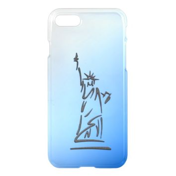 Statue of Liberty Blue iPhone 7 Case